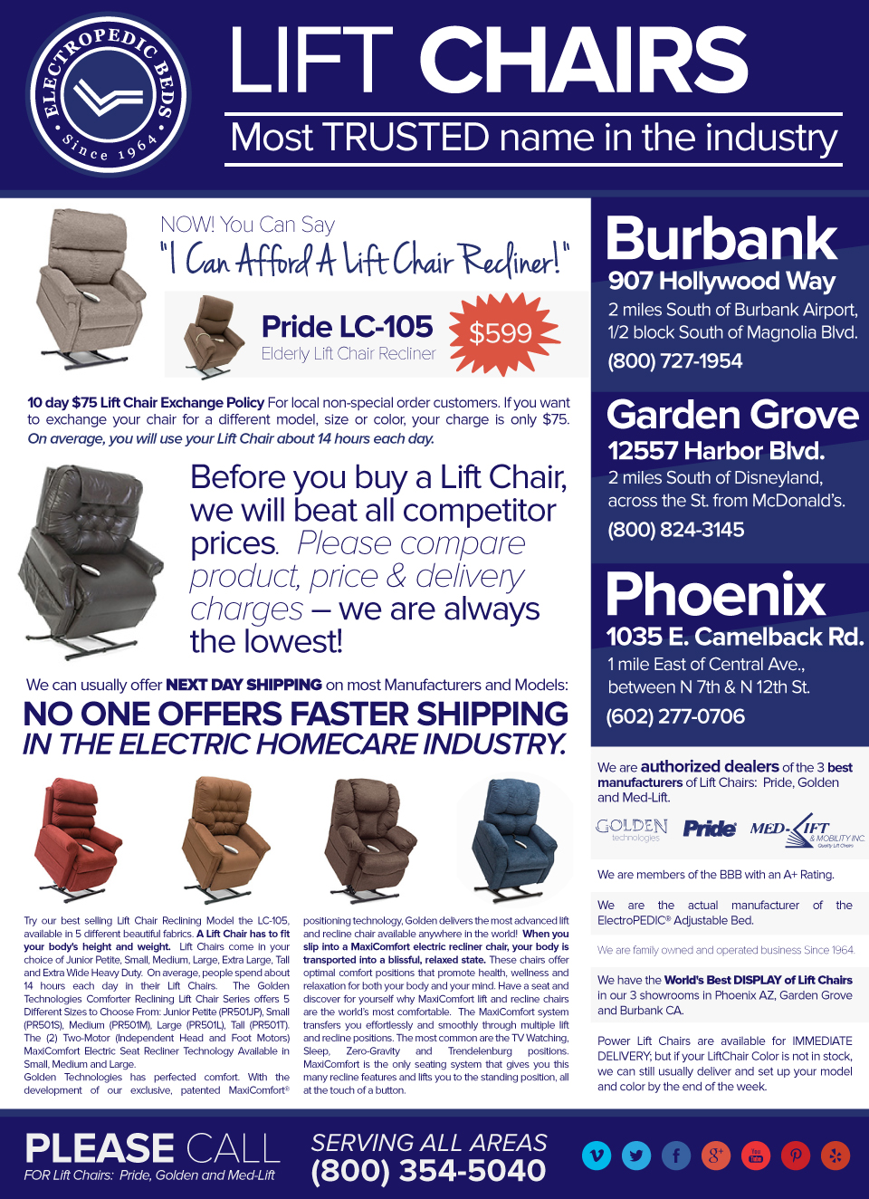 Phoenix affordable liftchair recliner store
